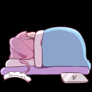 エンジニアメイドイラスト素材集の「不貞寝をするメイドちゃん」