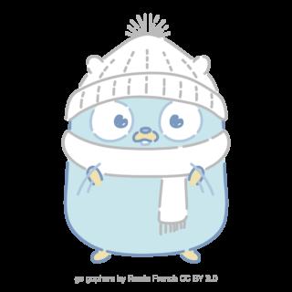 とらラボ×Gopherくんイラスト素材集の「雪のGopherくん(クレジット付)」